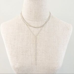 Jewelry - Brand New Layer Y Silver Necklace